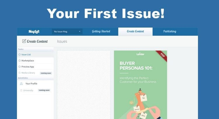 Create your first magazine issue