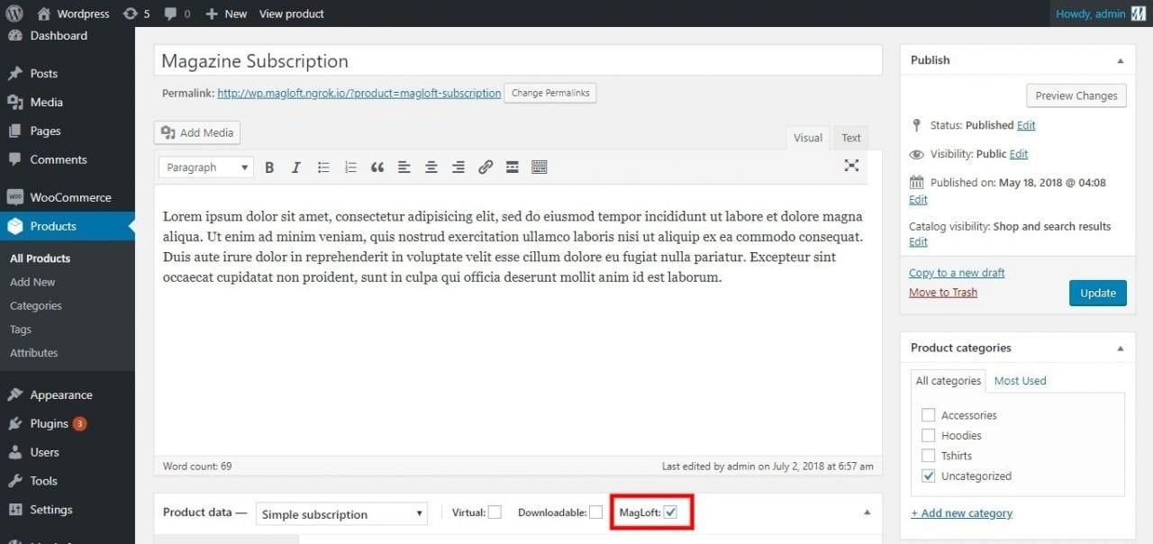 magloft wordpress plugin
